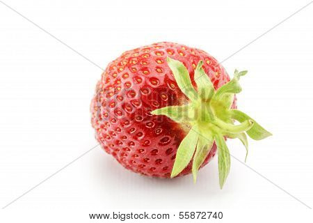 some sweet strawberries on a white background