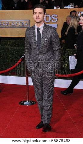 LOS ANGELES - JAN 27:  Justin Timberlake arrives to the SAG Awards 2013  on January 27, 2013 in Los Angeles, CA