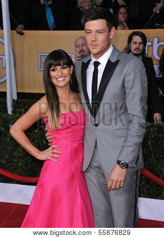 LOS ANGELES - JAN 27:  Lea Michele & Cory Monteith arrives to the SAG Awards 2013  on January 27, 2013 in Los Angeles, CA