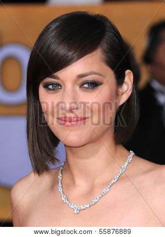 LOS ANGELES - JAN 27:  Marion Cotillard arrives to the SAG Awards 2013  on January 27, 2013 in Los Angeles, CA