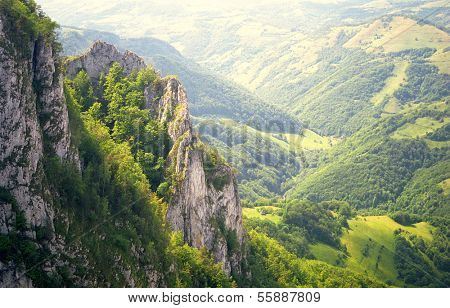 Summer alpine landscape in the Occidental Carpathians, Romania