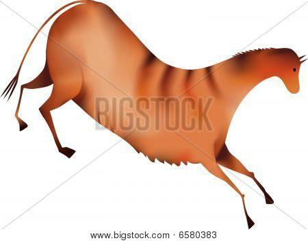 horse a la Altamira - vector