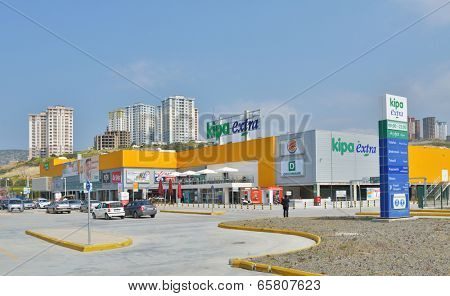 KUSADASI, TURKEY - APRIL 8, 2014: New Hypermarket Kipa Extra in Kusadasi. Founded in 1992, Kipa is Izmir based company which now have 189 shops in 24 provinces of Turkey
