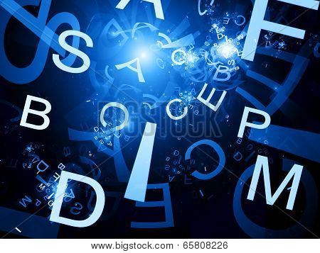 Random Letters Fractal Abstract Background