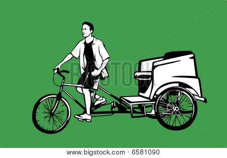 Pedicab and driver