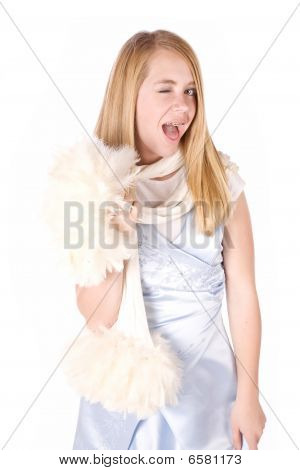 Girl In Formal Winking