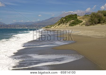 Komos Beach on Crete