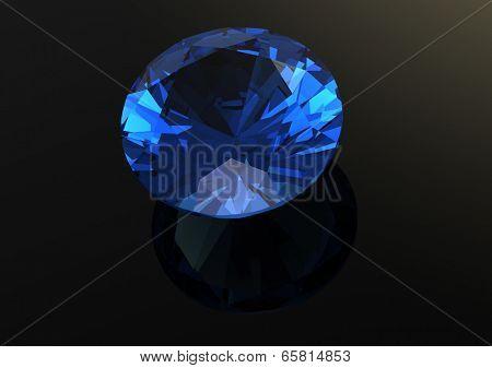 Luxury 3D diamonds render. Jewelry gemstone. Benitoit. Sapphire. Iolite.Tanzanite