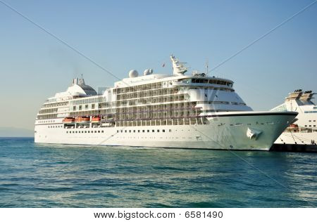 Cruise Ship Docked In Port
