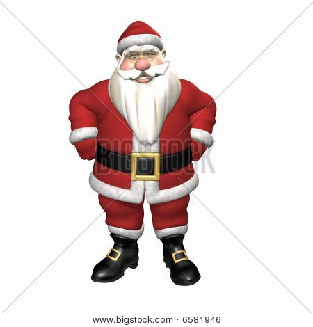 Santa With Hands On Hips