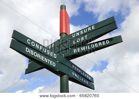Disoriented And Confused Signpost