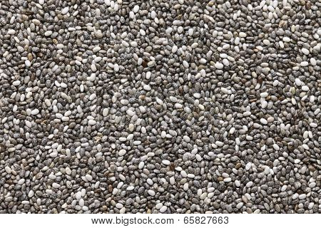 background of chia seeds
