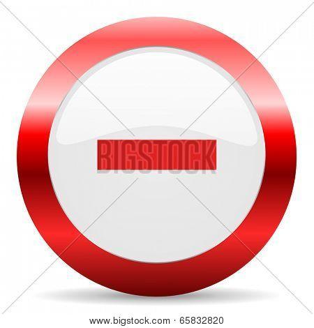 minus glossy web icon