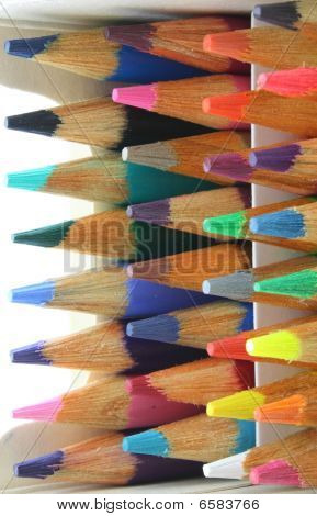 Pencil crayons pack, colorful and  horizontal