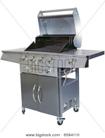 Cut-out Barbecue On White Background