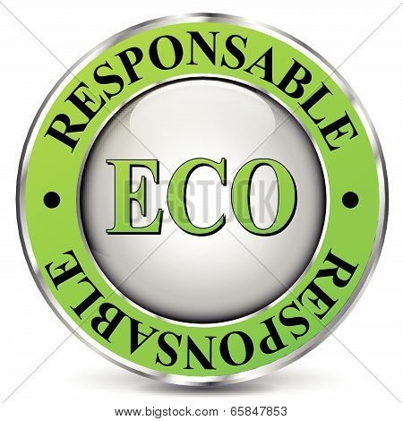 Vector illustration of eco-friendly icon on white background poster