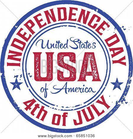 4th of July Vintage USA Stamp