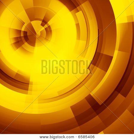 Yellow Circles Of Rectangular
