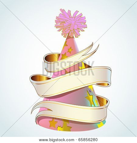 Party Hat With Banner