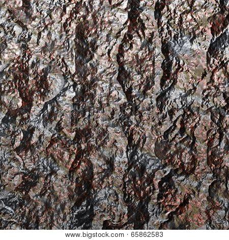 Rust Colored Lava-like Material