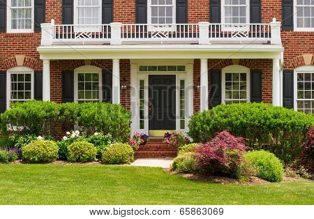 Entrance To Large Single Family Home