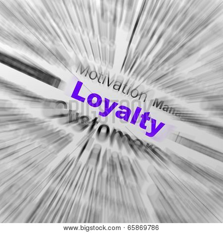 Loyalty Sphere Definition Displays Honest Fidelity And Reliability