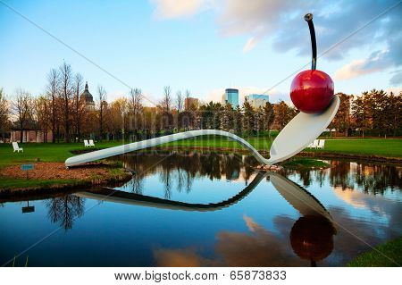 The Spoonbridge And Cherry At The Minneapolis Sculpture Garden