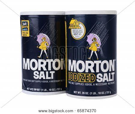 Two Boxes Of Morton Salt,
