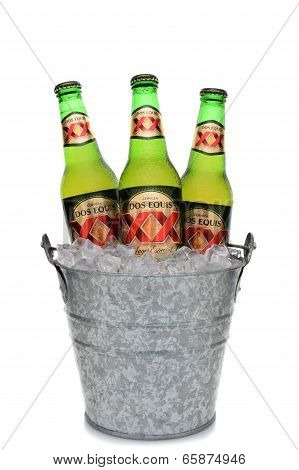 Dos Equis Lager In Ice Bucket