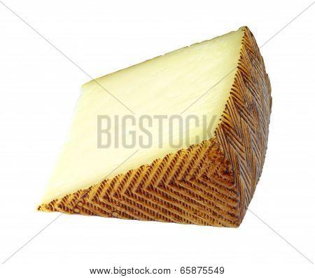 Spanish manchego cheese portion