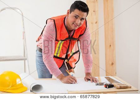 Contractor Remodeling A House
