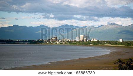Summertime Bootleggers Cove Anchorage Alaska United States Northwest Territory