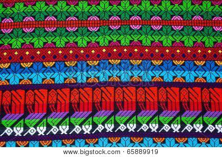 Mayan Ornament On A Blanket At Chichicastenango Market Guatemala