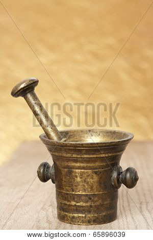 Bronze Mortar And Pestle