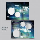 modern tri-fold template of brochure design with technology style poster