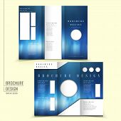 modern tri-fold template of brochure design with futuristic style poster