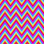 Zigzag seamless pattern in pink, blue , yellow colors poster