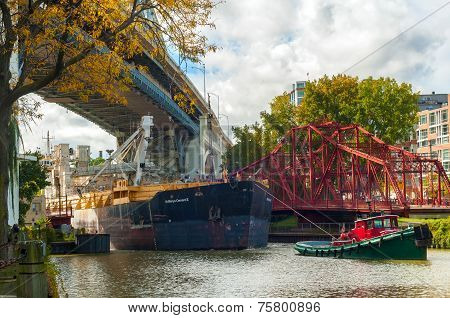 Freighter And Tug