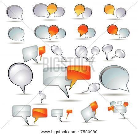 Speech bubble and web button