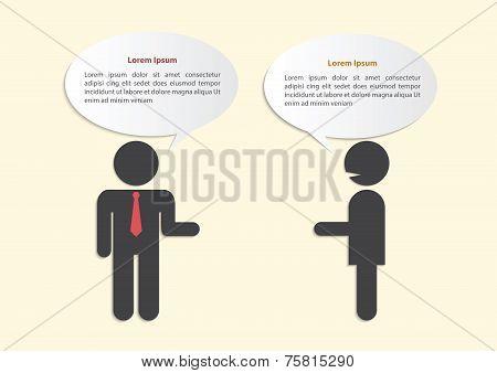 Two Businessmen In Conversation