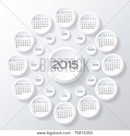 Calendar 2015 Vector Desing