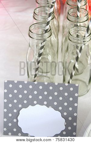 Drinking bottles with straws