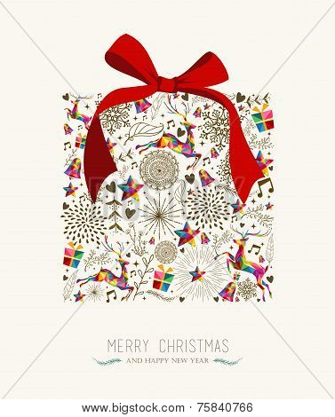 Vintage Christmas Gift Greeting Card