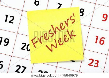 Freshers' Week Reminder