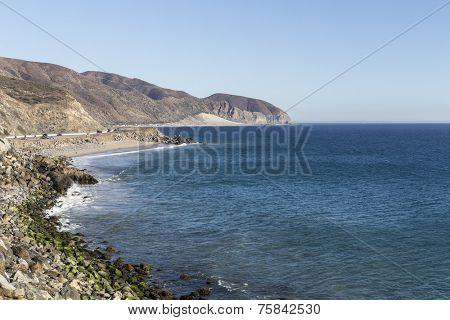 PCH north of Malibu near Point Mugu State Park in Southern California.