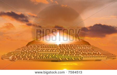 UFO on Sunset