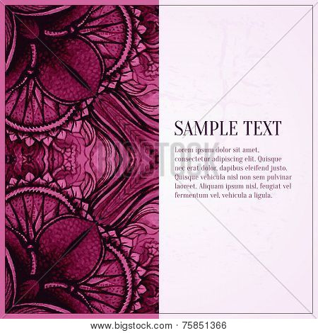 Vector pink watercolour background. Watercolor texture. Decoration design element. Textured backdrop. Square banner. Hand drawn design element. Vector pattern. poster