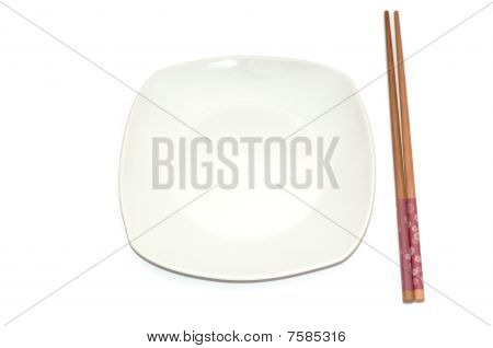 Empty plate for sushi