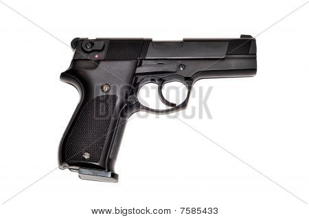 Black armed gun