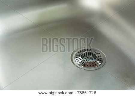 Sink With Chrome Drain Strainer / Sink Strainer